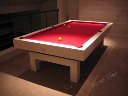 Billard Arcade laqué blanc mat 2m60