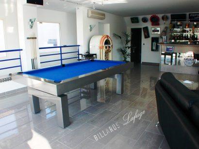 Billard Arcade laqué drap bleu