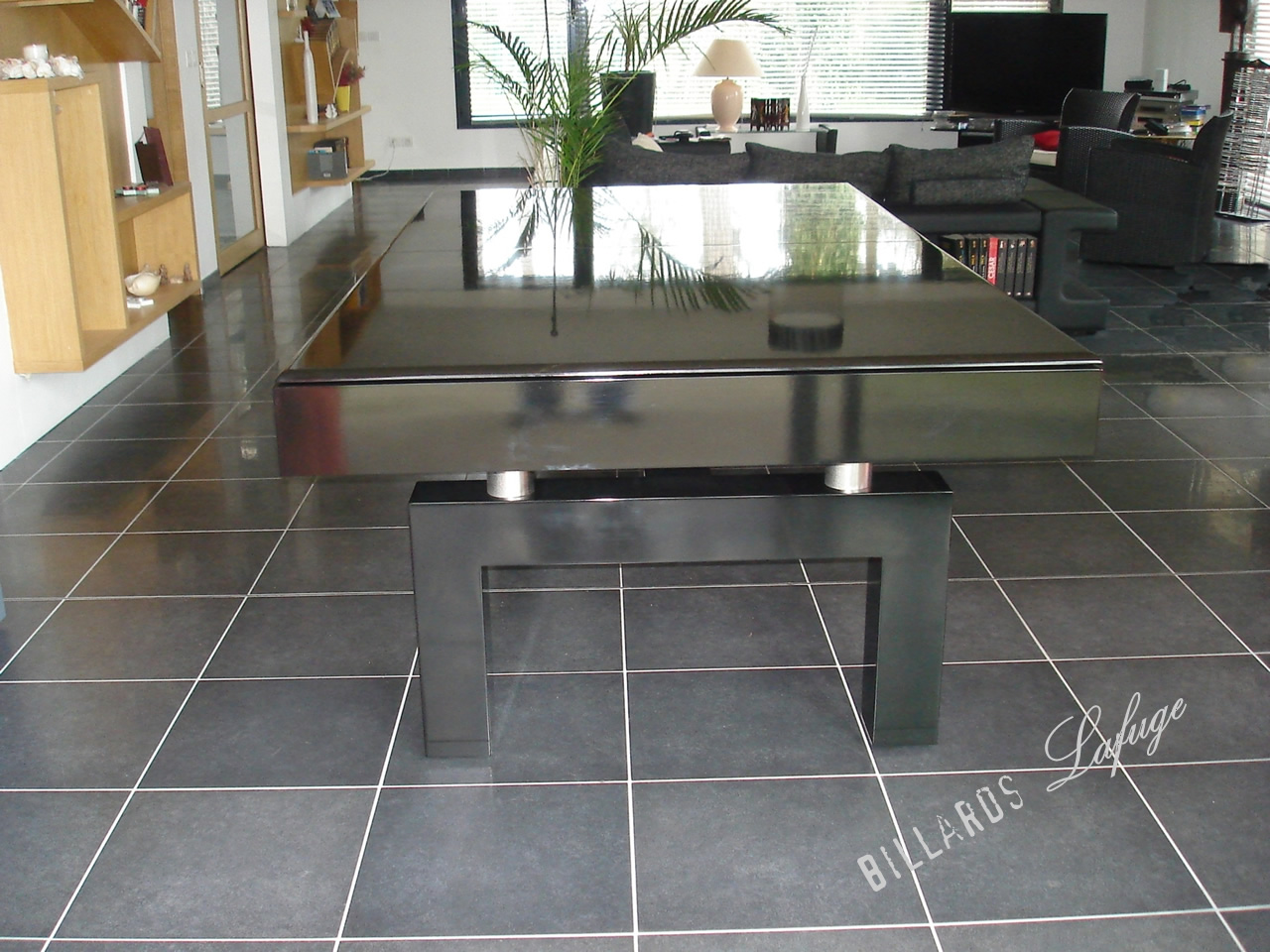 Billard convertible en table de salon