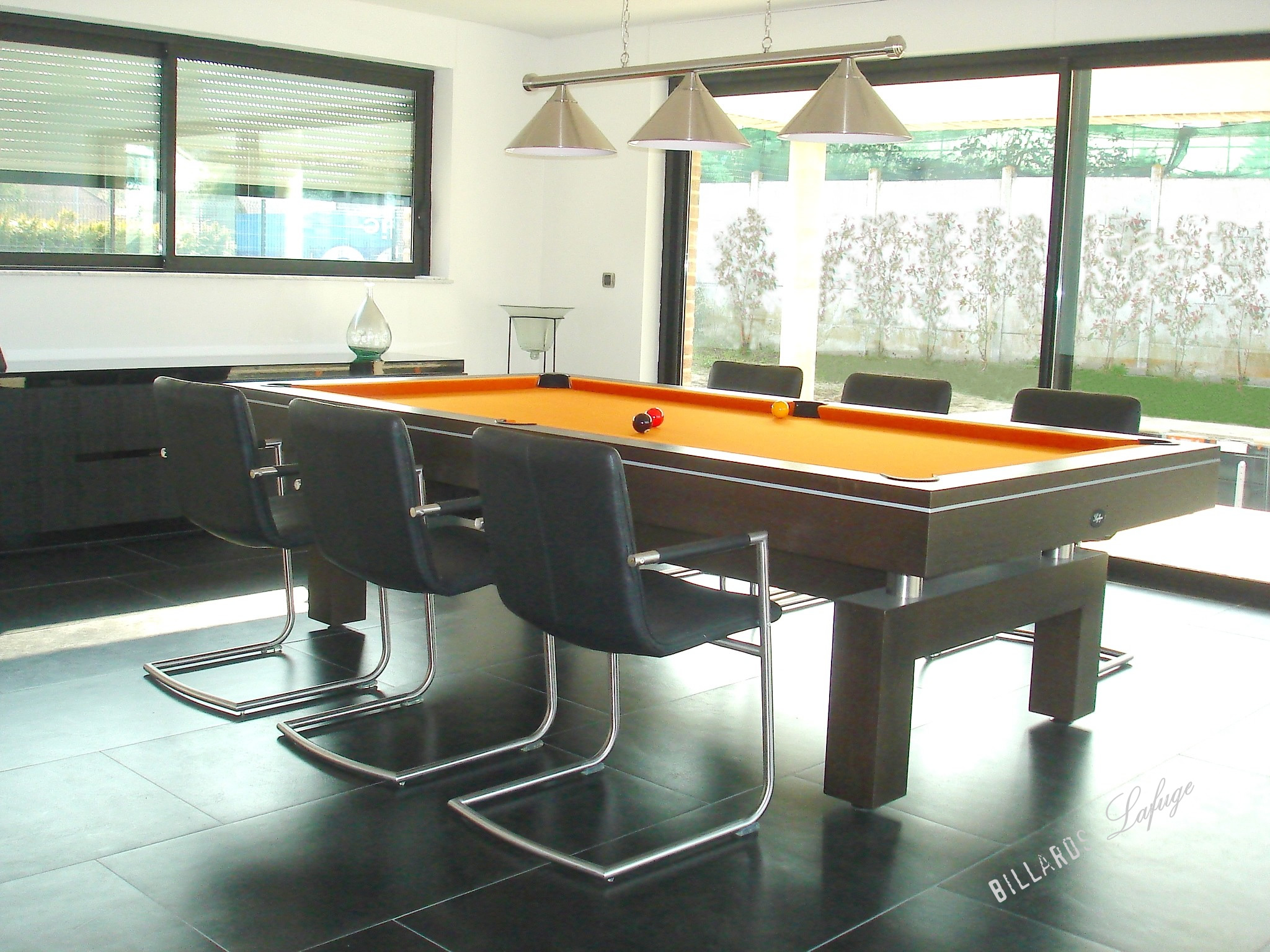Billard arcade design et contemporain billards lafuge for Table de salle a manger billard