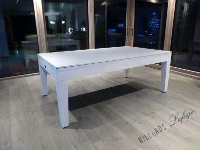 Billard City chêne blanchi avec plateau table