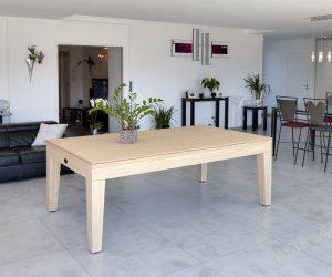 Billard City chêne naturel transformable en table