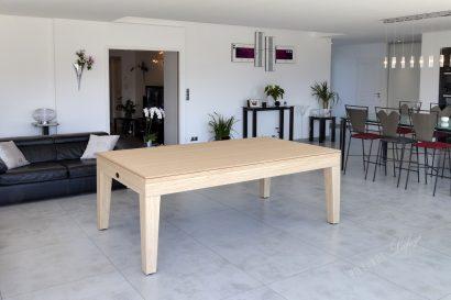 Billard City chêne naturel avec plateau table
