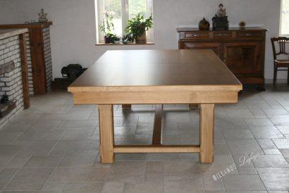 Billard Rustic transformable en table