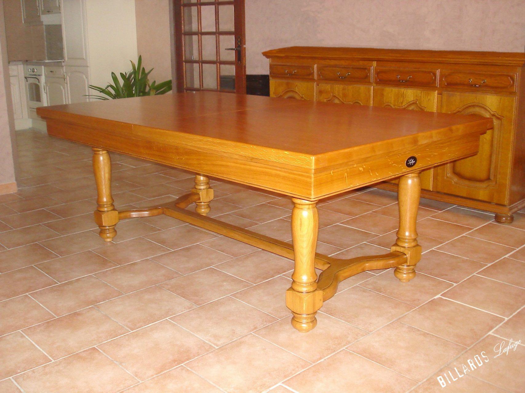 Billard Castel chêne doré transformable en table