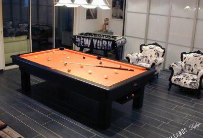 Billard Compétition noir drap orange