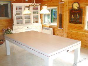 Billard EOS transformable en table, en chêne blanchi