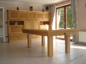 Billard Loft en chêne avec plateau - Billard transformable en table