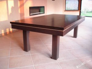 Billard Soho chêne wengé avec plateau table