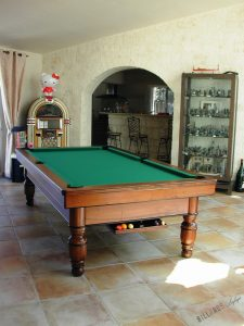 Billard Dauphinois 2m60 en noyer