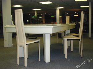 Billard Elégance laqué en blanc avec plateau table